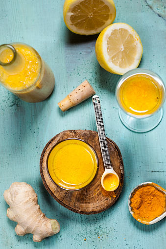 Ginger - Spice「Detox drink, ginger, lemon and orange juice with curcuma and chilli powder」:スマホ壁紙(6)