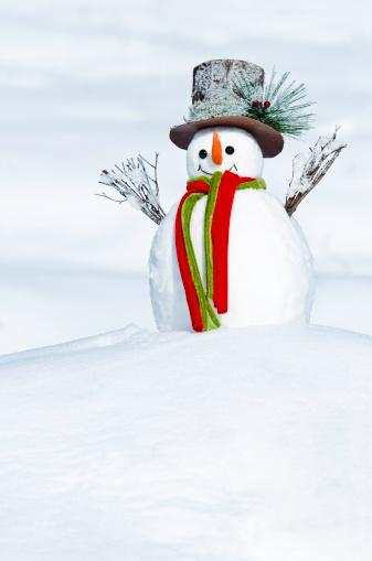 雪だるま「スノーマンで冬の風景」:スマホ壁紙(2)