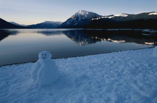 Snow mountain「Snowman in Sunset」:スマホ壁紙(15)