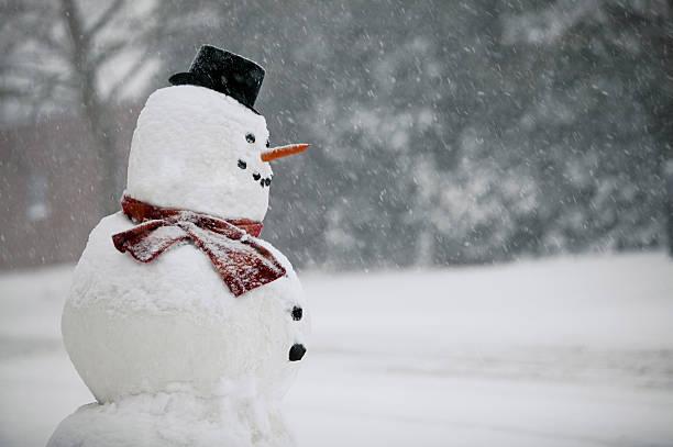 Snowman in winter:スマホ壁紙(壁紙.com)