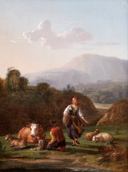 Water's Edge「The Riverbank: Landscape With Figures And Cattle,」:写真・画像(18)[壁紙.com]