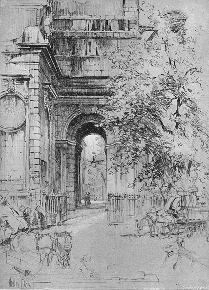Etching「The old entrance to London Bridge under the tower of St」:写真・画像(13)[壁紙.com]