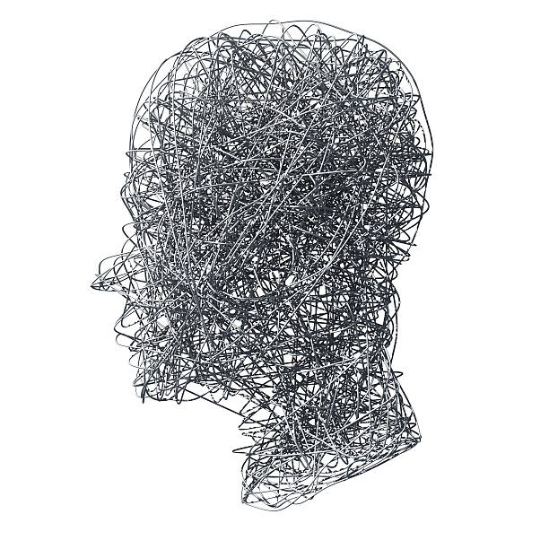 Head made out of wires on white background:スマホ壁紙(壁紙.com)