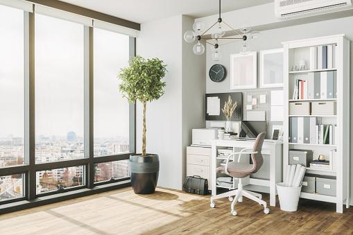 Comfortable「Home Office Interior」:スマホ壁紙(4)
