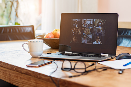 Computer Monitor「Home Office Set Up for Webinar and Teleconference」:スマホ壁紙(5)