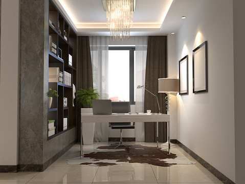 Turkey - Middle East「Home Office Work Room Interior」:スマホ壁紙(15)