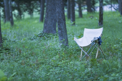 Camping Chair「Camp Chair on a Meadow at Campsite」:スマホ壁紙(6)