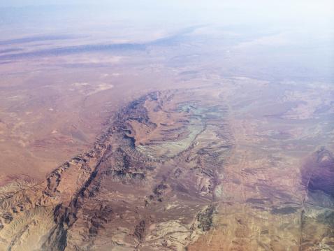 Iran「Iran, Kurdistan, Aerial view of Zagros mountains range」:スマホ壁紙(2)