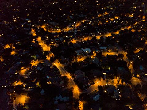 star sky「Suburban Houses at Night」:スマホ壁紙(9)