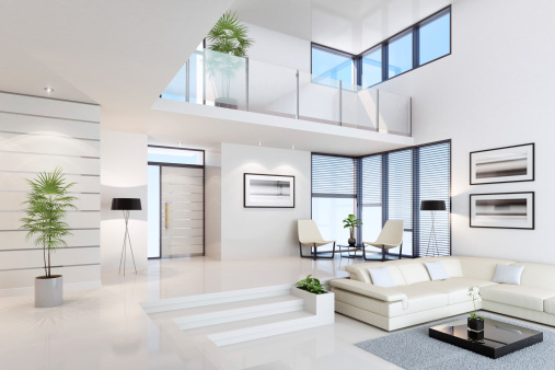 Villa「White Penthouse Interior」:スマホ壁紙(10)