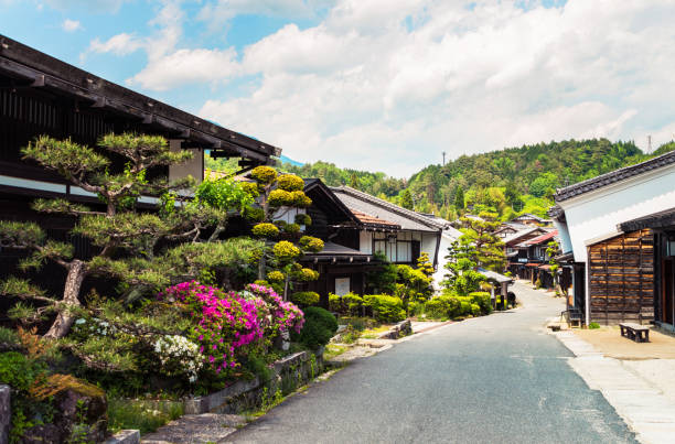 Tsumago - an ancient heritage town in Japan:スマホ壁紙(壁紙.com)