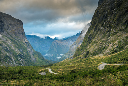 New Zealand「The Milford Sound fiord. Fiordland national park, New Zealand」:スマホ壁紙(7)