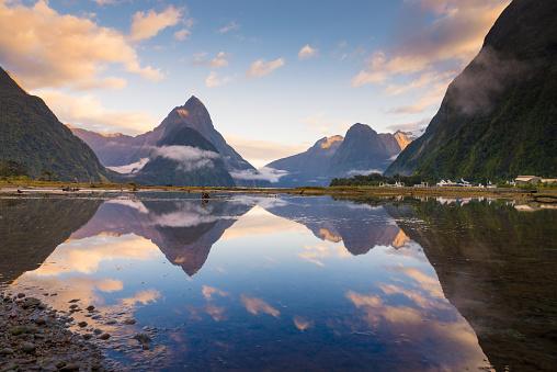 ビーチ「ミルフォード ・ サウンドのフィヨルド。フィヨルドランド国立公園、ニュージーランド」:スマホ壁紙(19)