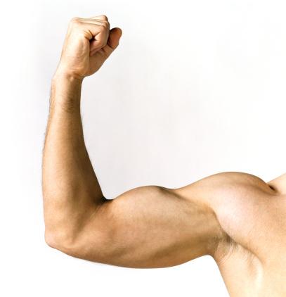 夕焼け 海「Naked Man Showing His Biceps」:スマホ壁紙(6)