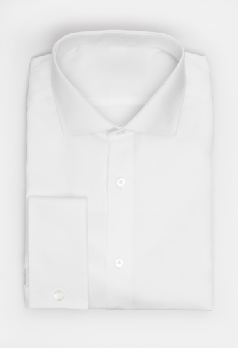 Formalwear「White folded shirt on a white background」:スマホ壁紙(9)