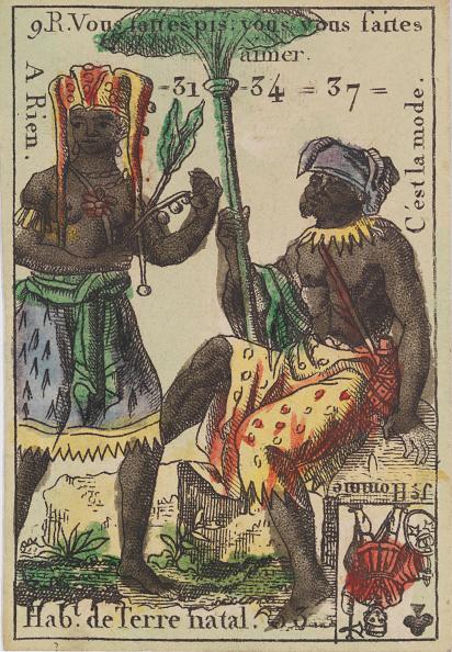 Etching「HabT De Terre Natal From Playing Cards (For Quartets) Costumes Des Peuples,」:写真・画像(14)[壁紙.com]