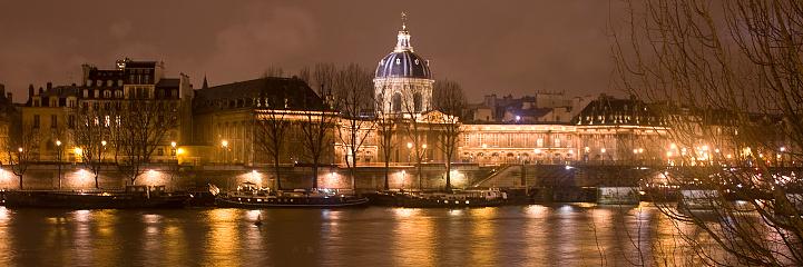 夜「ポン デ ザール、institut de フランス」:スマホ壁紙(16)