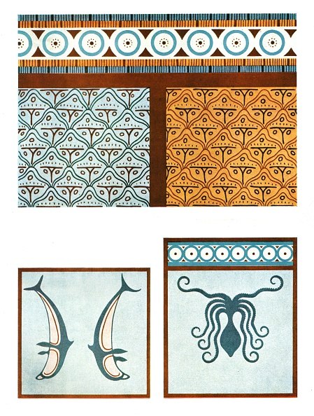 Octopus「Floor Paintings In The Palace At Tiryns」:写真・画像(13)[壁紙.com]