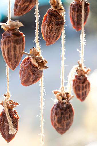柿「Dried persimmon」:スマホ壁紙(7)