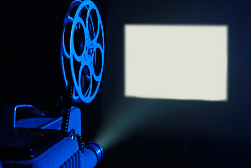 Film Screening「8mm film projector running and blank screen」:スマホ壁紙(3)