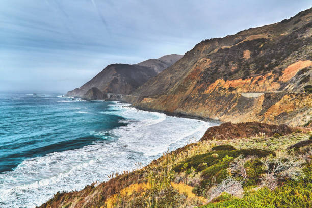 Big Sur Coastline along the Pacific Highway in California,USA:スマホ壁紙(壁紙.com)