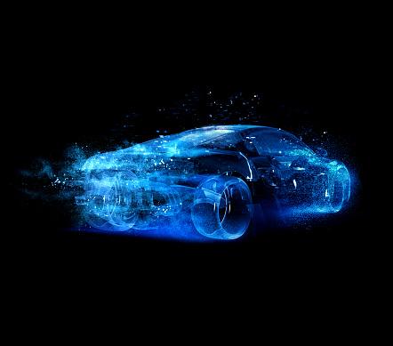 キラキラ「Car glass blue」:スマホ壁紙(8)