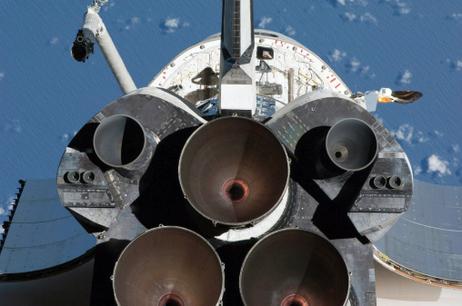 Space Shuttle Endeavor「February 9, 2010 - View of the three main engines of Space Shuttle Endeavour's aft section.」:スマホ壁紙(10)