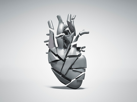 Biology「Broken metal heart」:スマホ壁紙(5)