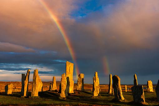 Double Rainbow「Callinish Stones and Double Rainbow」:スマホ壁紙(11)