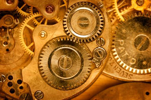 Watch - Timepiece「Close up golden watch machinations」:スマホ壁紙(8)