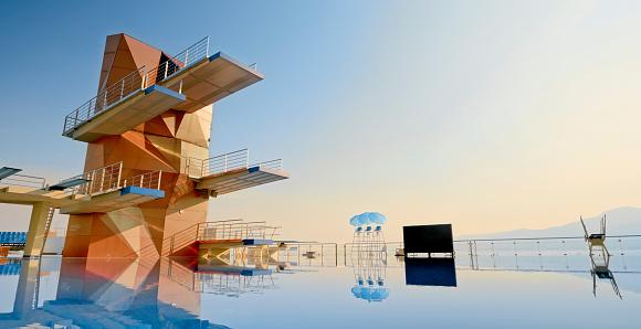 Diving Platform「Empty swimming pool」:スマホ壁紙(17)