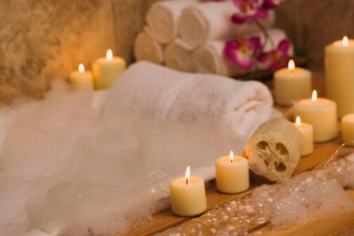 Relaxation「Candlelit bubble bath」:スマホ壁紙(2)