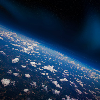 Planet Earth「Earth atmosphere viewed from space」:スマホ壁紙(6)
