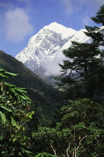 Himalayas「Snowy mountain peak from Thangsing, Sikkim, India」:スマホ壁紙(10)