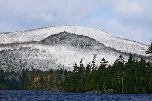 アディロンダック森林保護区「Snowy Mountain and Lake」:スマホ壁紙(17)