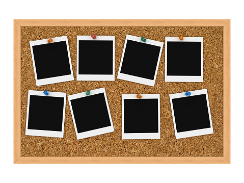 Straight Pin「Instant pictures tacked to cork board」:スマホ壁紙(4)