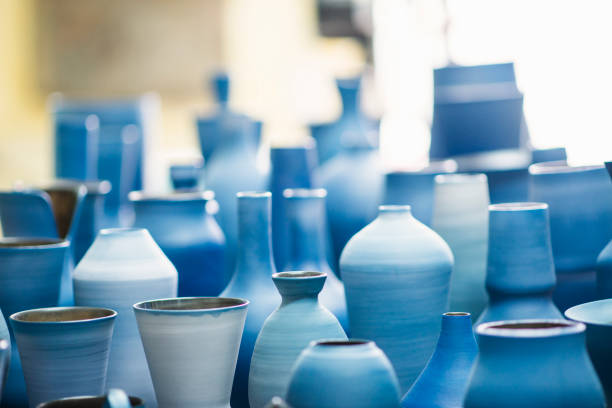 Blue pottery works in okinawa:スマホ壁紙(壁紙.com)