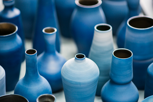 Cool Attitude「Blue pottery works in okinawa」:スマホ壁紙(4)