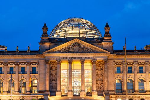 The Reichstag「Berlin, Reichstag at night」:スマホ壁紙(17)