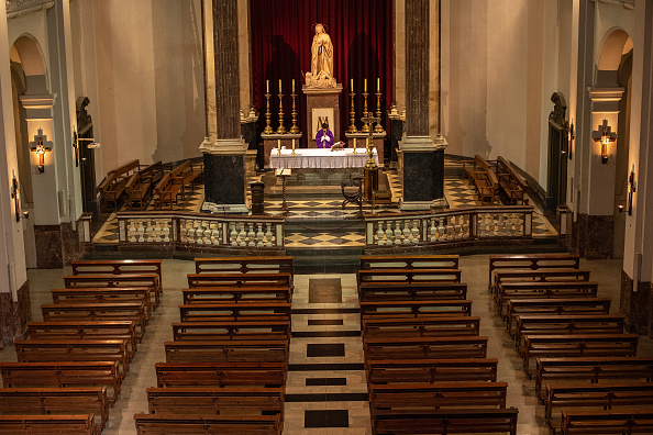 Spain「A Church Celebrates An Online Mass Due To Coronavirus」:写真・画像(1)[壁紙.com]