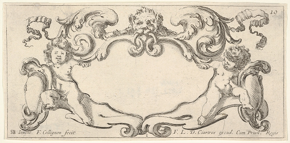 Copy Space「Plate 1: A Cartouche With A Lion Head With Wings At Top Center」:写真・画像(5)[壁紙.com]