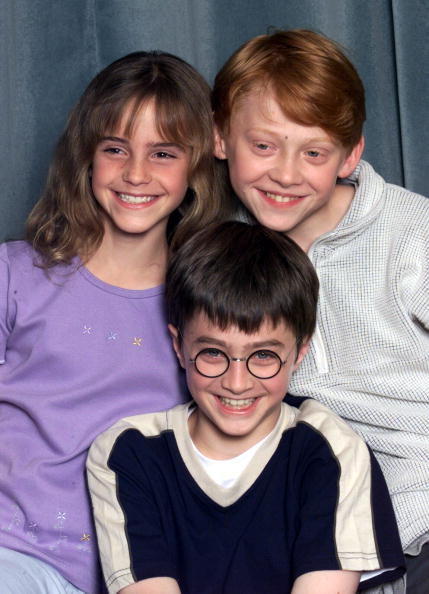 Movie「Emma Watson, Daniel Radcliffe and Rupert Grint at Harry Potter press conference」:写真・画像(8)[壁紙.com]