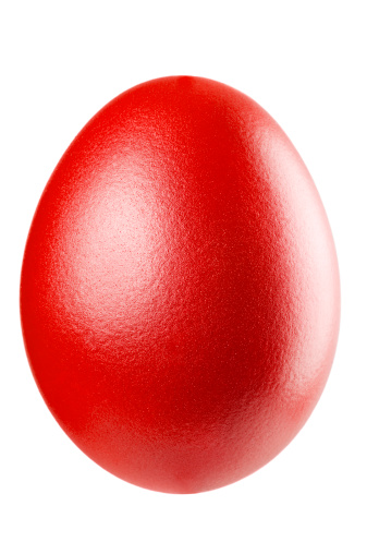 Easter Egg「Red Easter Egg isolated on white.」:スマホ壁紙(3)
