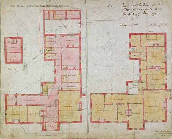 Pen「Plans For The Red House Bexleyheath London 1859」:写真・画像(9)[壁紙.com]