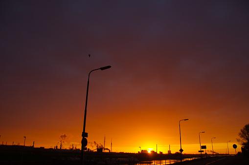 Ijmuiden「Daybreak over blast furnace IJmuiden」:スマホ壁紙(18)