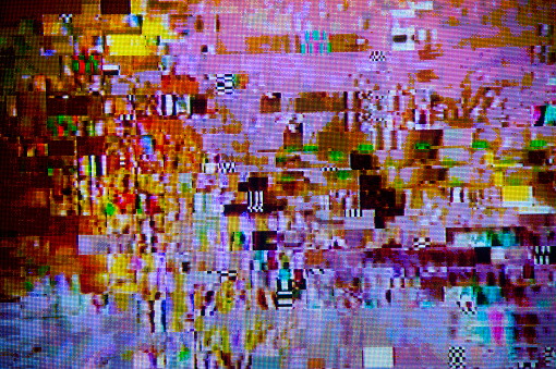 Part of a Series「Digital Television Interference Pattern」:スマホ壁紙(9)