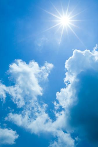 雲「晴れた日」:スマホ壁紙(2)