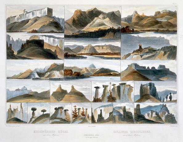 Etching「Remarkable Hills On The Upper Missouri' 1844」:写真・画像(2)[壁紙.com]