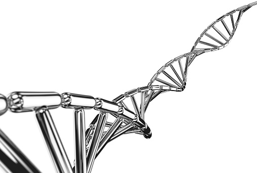 Focus On Foreground「DNA helix made from mirror polished metal capsule」:スマホ壁紙(17)