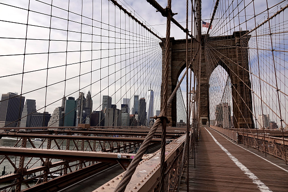 Brooklyn Bridge「Coronavirus Pandemic Causes Climate Of Anxiety And Changing Routines In America」:写真・画像(11)[壁紙.com]